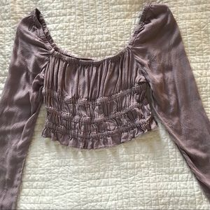 URBAN OUTFITTERS PURPLE CROPPED BLOUSE